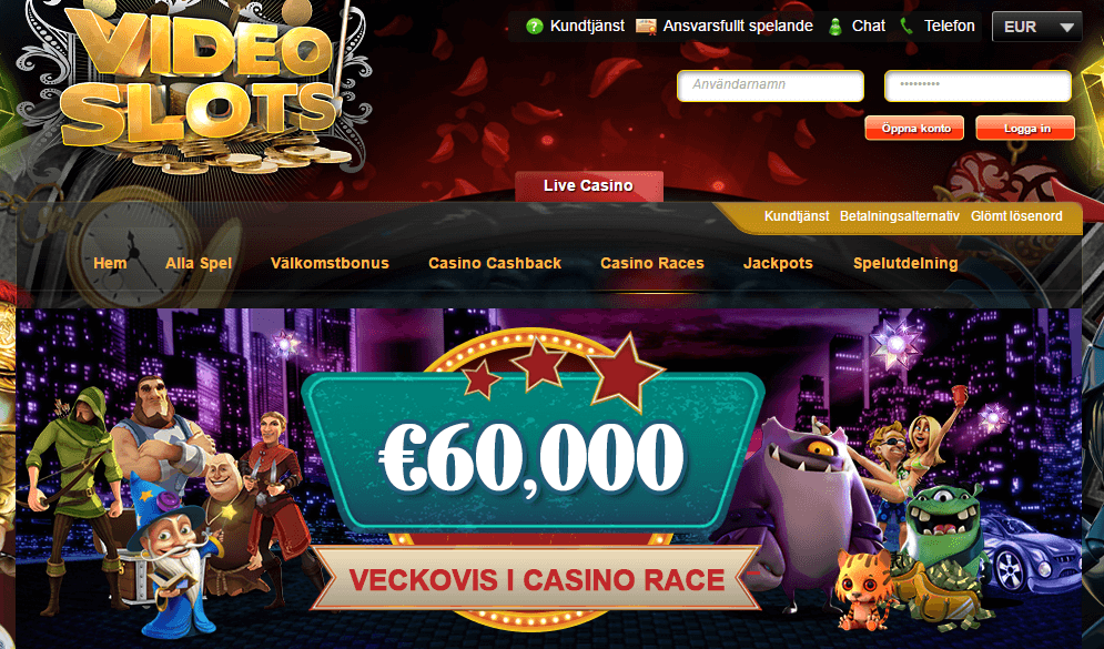 Casino Race Videoslots
