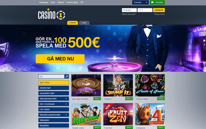 Veckans casino Casino1Club