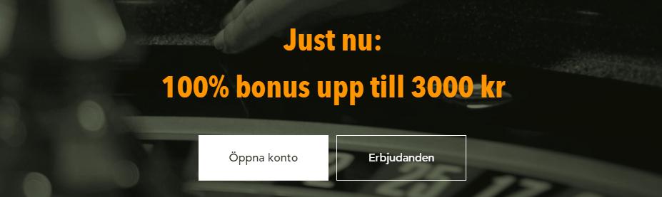 Codeta live casino bonus