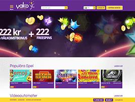 Yako svenska casinon skärmdump