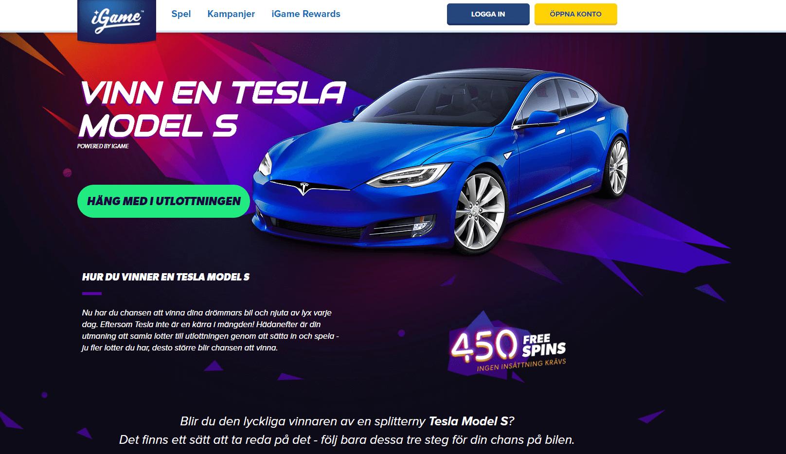 Vinn en Tesla bil