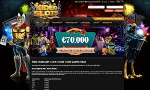 Veckovisa casino race hos Videoslots
