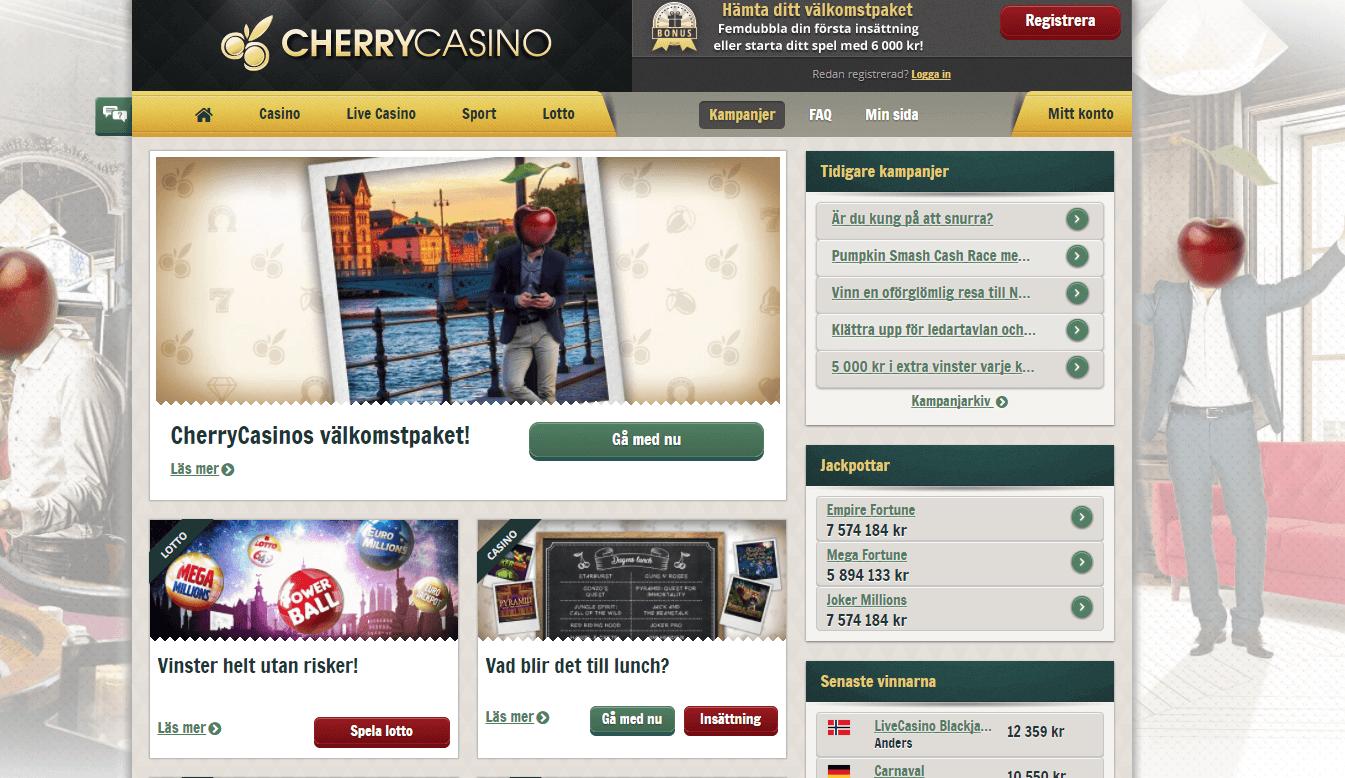 Cherry Casino freespins erbjudande