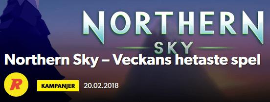 Rizk Veckans hetaste spel Northern Sky