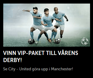 Betsafe vinn vip-pakjet till derby mellan City - United
