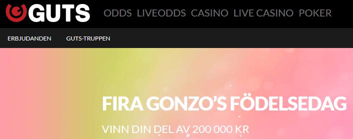 Guts Gonzo's Födelsedag 200 000 kr