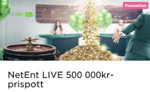 MrGreen NetEnt LIVE 500 000 kr prispott
