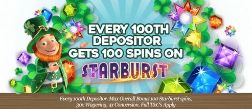 PotsofLuck 100th Depositer 100 Freespins