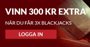 Guts vinn 300 kr extra på Blackjack