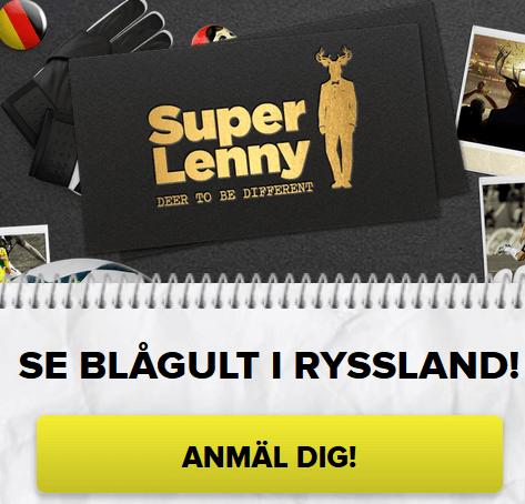 SuperLenny Vinn 2 biljetter till VM-gruppspelet Sverige-Tyskland