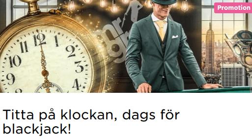 MrGreen Blackjack Happy Hour vinster