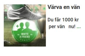 Unibet nätcasino Värva en vän 1000 kr + 50% vinstboost