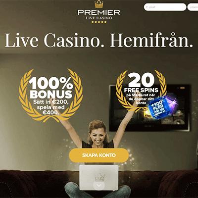 PremierLiveCasino bonus