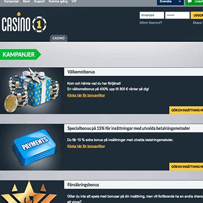 Casino1 freespins