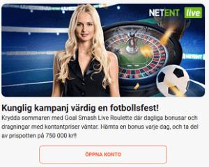 LeoVegas Kunglig kampanj värdig en fotbollsfest med en prispott på 750 000 kr!