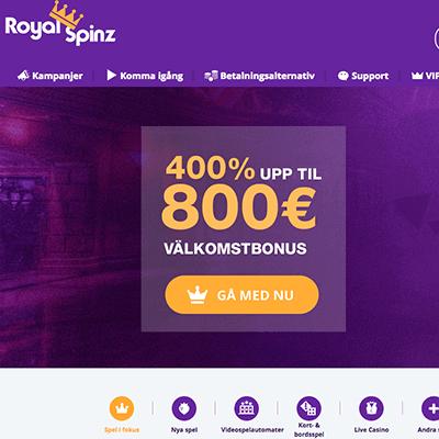 RoyalSpinz bonus