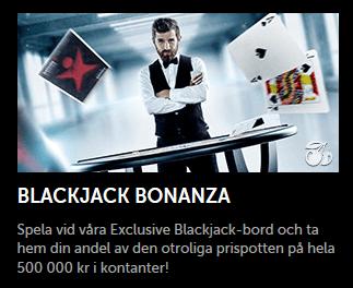 Nätcasino Betsafe Blackjack Bonanza Vinn din del av 500 000 kr i kontanter i vår turnering!