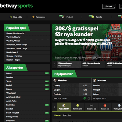Betway freespins