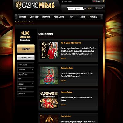CasinoMidas freespins