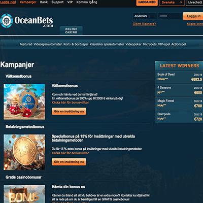 Oceanbets Casino freespins