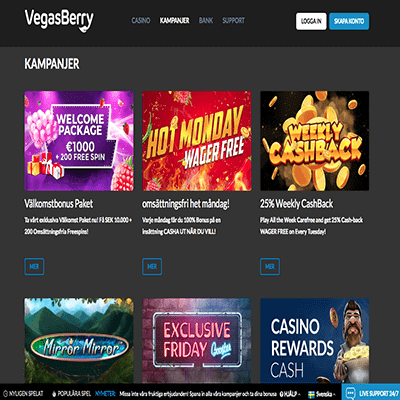 VegasBerry freespins