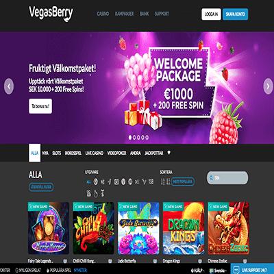 VegasBerry bonus