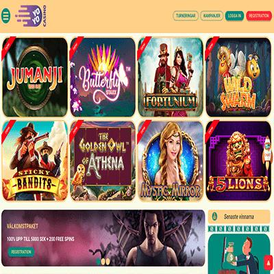 Yoyo Casino freespins