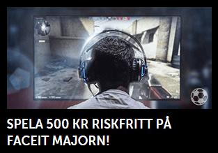 Nätcasino Betsafe Få 500 kr i riskfria spel på cs:go majorn!