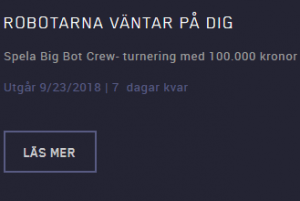 Maria casino TURNERING OM 100.000 KR PÅ BIG BOT CREW!