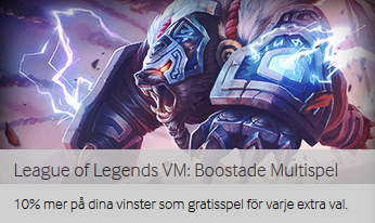 Nätcasino Betway - League of Legends VM: Boostade Multispel!