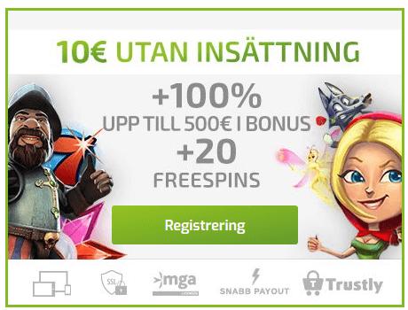 Nätcasino Lapalingo - En mäktig 100% bonus upp till 250€ på din insättning!