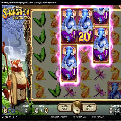 The Legend of Shangri-La: Cluster Pays slot