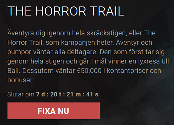 Bitstarz Casino - The Horror Trail med 50 000 € i prispotten!