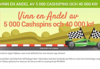 Nätcasino Casilando - Vinn en andel av 5 000 cashspins och 40 000 kr!