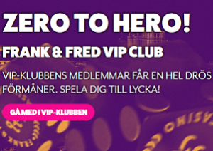 Nätcasino Frank & Fred Casino - Lukrativ VIP Club!