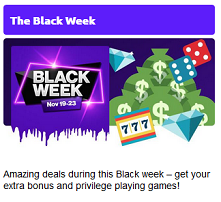 Nätcasino Freaky Aces - The Black Week!