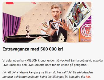Nätcasino LeoVegas - Extravaganza med 500 000 kr!