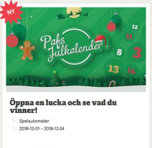 Nätcasino Paf - Pafs Julkalender - Dagliga erbjudanden!