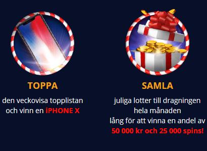 Smygtitta på julklapparna och vinn andel av 50 000 kr + 25 000 spins hos Primeslots!