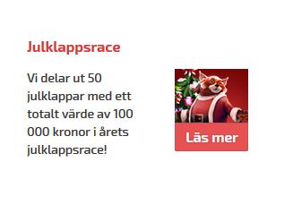 Vinn din andel av 100 000 kr i Julklappsracet på SverigeCasino!
