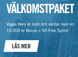 Slåss om hela 230 000 € i tävlingen på Vegashero!