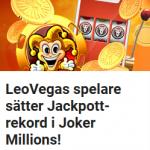 Bli nästa miljonär via jackpottspel på LeoVegas!