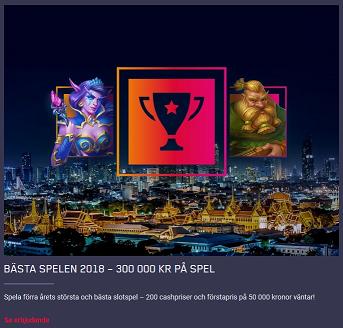 Spela på de Bästa Spelen 2018 och vinn din andel av 300 000 kr på Maria Casino!