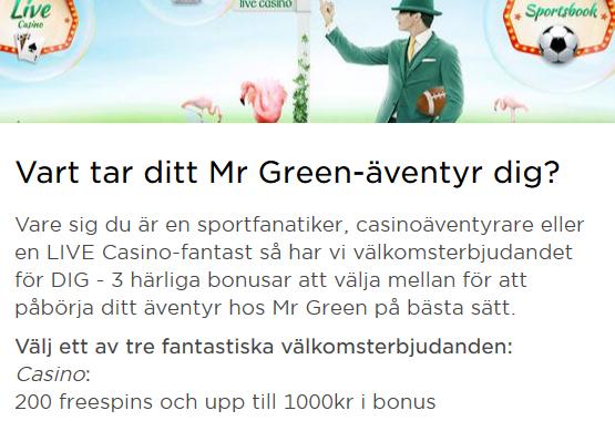 Bli medlem på Mr Green och delta i cashmiraklet där 400 kontantvinster ska delas ut!
