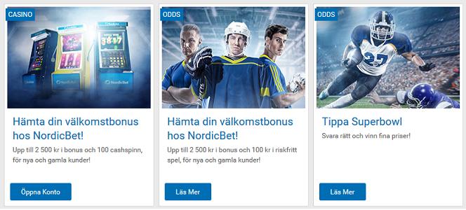 Registrera konto hos NordicBet och tävla om gratisspel och 10 000 kr kontanter!