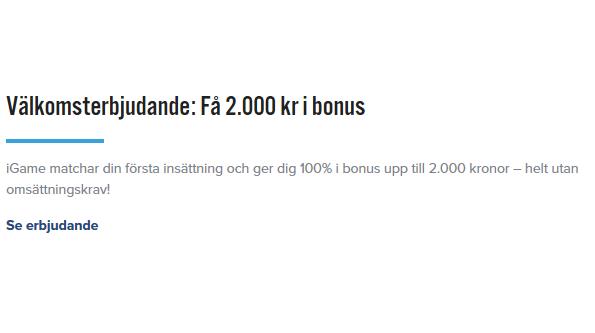 Öppna konto idag på iGame Casino och delta i 50 000 kronors turneringen!