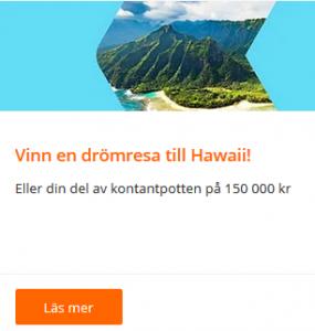 Vinn en resa för två till Hawaii - via nätcasino Betsson!