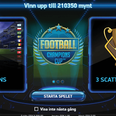 Football: Champions Cup slots