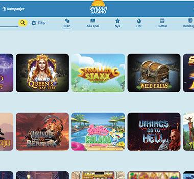 Sweden casino freespins