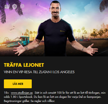 Tävla om att träffa Lejonet Zlatan i Los Angeles via Bethard!